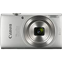 Canon PowerShot ELPH 180 20MP HD Silver Digital Camera 32GB Card Bundle Includes Camera, 32GB Memory Card, Reader, Wallet, Case, Mini Tripod, Screen Protectors, Cleaning Kit and Beach Camera Cloth by Canon