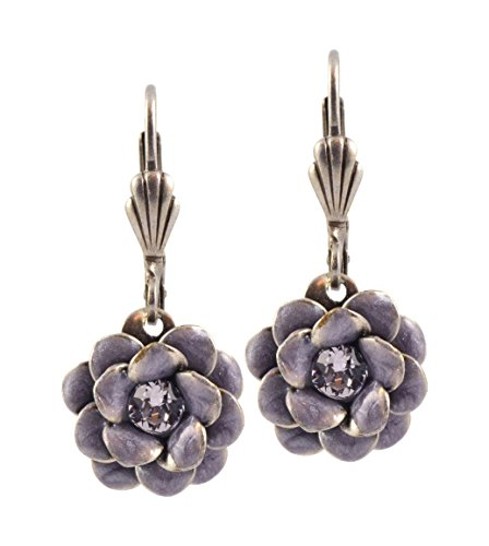 Anne Koplik Rose Flower Earrings, Silver Plated ES3081GRY
