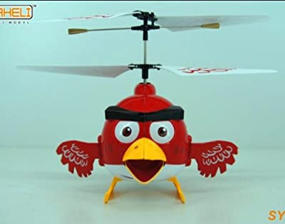 est Happy Bird 3 Channel Remote Controlled RC Helicopter Flying Toy With Gyro (Not Angry Birds) by SYAHELI