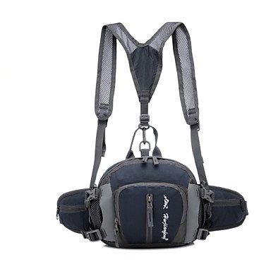 zhudj multifunción al aire libre mochila impermeable bolsa de nylon para hombres bolsas de viaje deporte cintura montañismo senderismo Camping mochila, gris gris