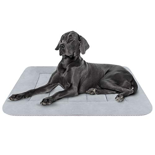 (Hero Dog Large Dog Bed Crate Pad Mat 42 Inch Washable Matteress Anti Slip Cushion for Pets Sleeping)