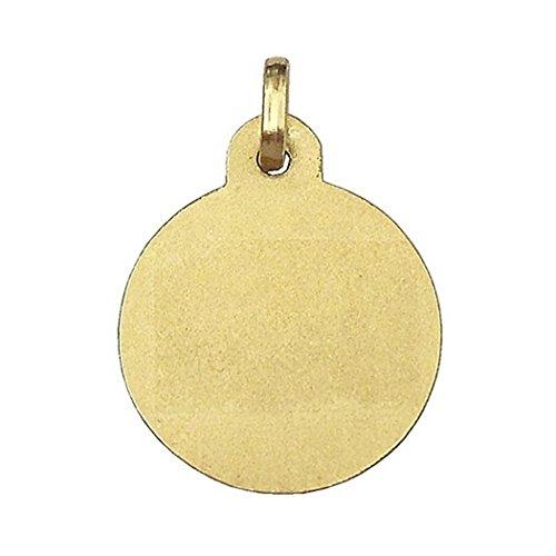 Médaille pendentif 18k 15mm or Première Communion. type de sang [6584GR] - personnalisable - ENREGISTREMENT inclus dans le prix