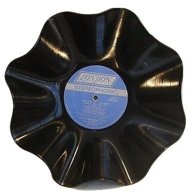 (Vinyl Record Bowl hand crafted using a Rolling Stones)
