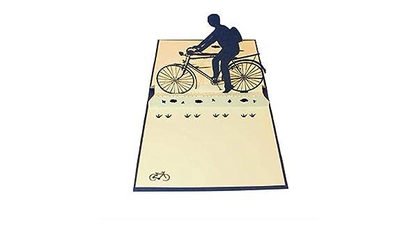 Tarjeta de felicitación de bicicleta de papel 3D Pop-Up Tarjeta ...