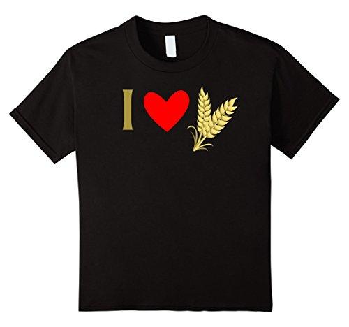 Kids I Love Whole Grains Vegan Tshirt 12 Black