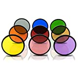 Opteka 77mm HD Multicoated Solid Color Special Effect Filter Kit For Digital SLR Cameras Includes: Red, Orange, Blue, Yellow, Green, Brown, Purple, Pink and Gray ND Filters