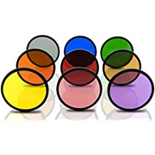 Opteka 58mm HD Multicoated Solid Color Special Effect Filter Kit For Digital SLR Cameras Includes: Red, Orange, Blue, Yellow, Green, Brown, Purple, Pink and Gray ND Filters