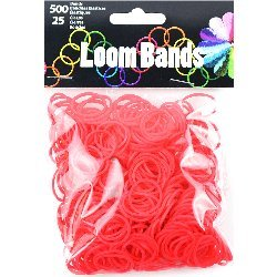 Touch of Nature Loom Bands Value Pack for Jewelry, Includes Band and Clasps, Red (Red Bands For A Loom)