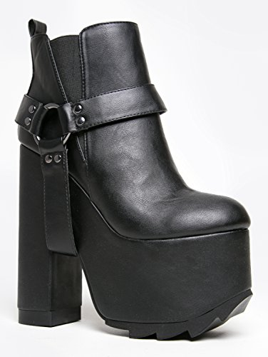 YRU Shoes GEMMA Extreme Platform Chunky High Heel Ankle Boot Bootie
