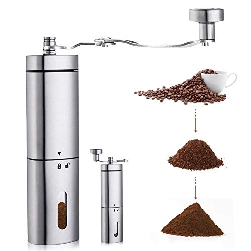 AVNICUD Manual Coffee Grinder, Hand Coffee Grinder with Adjustable Conical Ceramic Burr ,Electric Burr Grinders for…