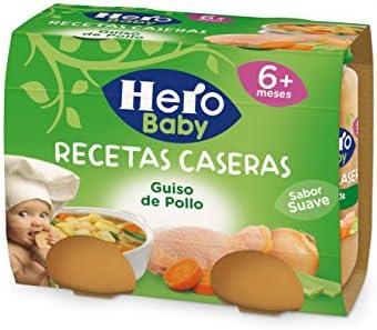 Hero Baby Recetas Caseras Potito de Guiso de Pollo para Bebés a partir de 6 meses Pack de 2 x 190 g: Amazon.es: Alimentación y bebidas