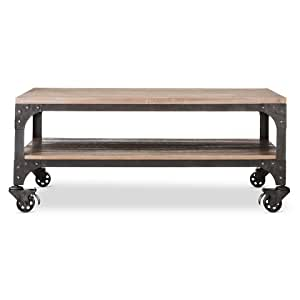 Franklin coffee table the industrial shop for Coffee tables on amazon