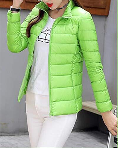 1 Lightweigth Jacket Winter H Collar Stand amp;E Puffer Coats Women Slim Down AOxwUPZ