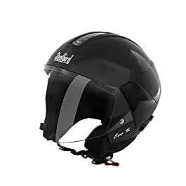 Steelbird SB-33 Eve Dashing Women Helmet H.Grey with plain visor,580 mm & SteelBird Cable Lock for Helmet (Black)