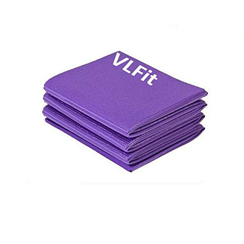 VLFit Foldable Yoga Mat for Travel – 6mm Thick Exercise Mat for Yoga, Pilates, Workout, Gym, Fitness – Portable Non-Slip…