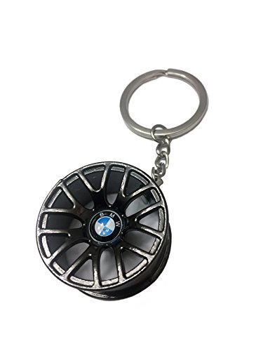 Benzie Hot Racing Wheel Rim Zinc Alloy Keychain for BMW (Racing Key Ring)