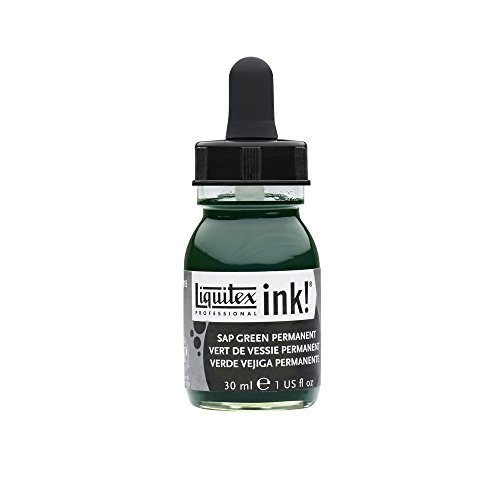 Liquitex Professional Acrylic INK! 1-oz Jar,  Sap Green Perm