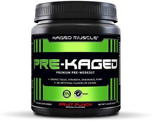 Pre Workout Powder KAGED MUSCLE Preworkout for Men Pre Workout Women, Delivers Intense Workout Energy, Focus Pumps One of the Highest Rated Pre-Workout Supplements, Fruit Punch, Natural Flavors