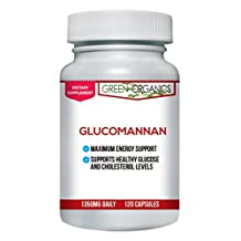 Glucomannan Capsules with Konjac Root Powder for Weight Loss and Appetite Suppression by Green Organics
