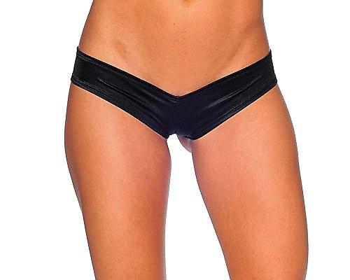 BODYZONE Apparel Women's Scrunch Back Super Micro Shorts. M/L (Black)