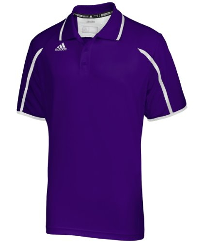 Adidas Mens Sideline Golf Polo 13 - Collegiate Purple/White - Large