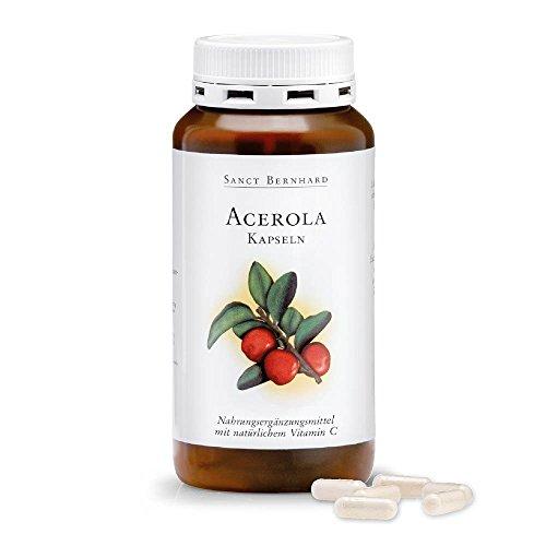 Acerola-Kapseln mit natürlichem Vitamin C, Acerolafrucht-Pulver 300 Kapseln