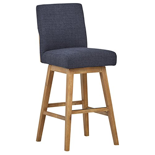 - Stone & Beam Sophia Mid-Century Modern Swivel Dining Room Kitchen Chair Bar Stool, 43.3 Inch Height, Navy Blue