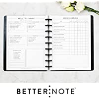 BetterNote Cleaning Schedule Kit for 9-Disc Happy Planner, Daily and Weekly Lists, 6 Month Supply (Planner Not Included)