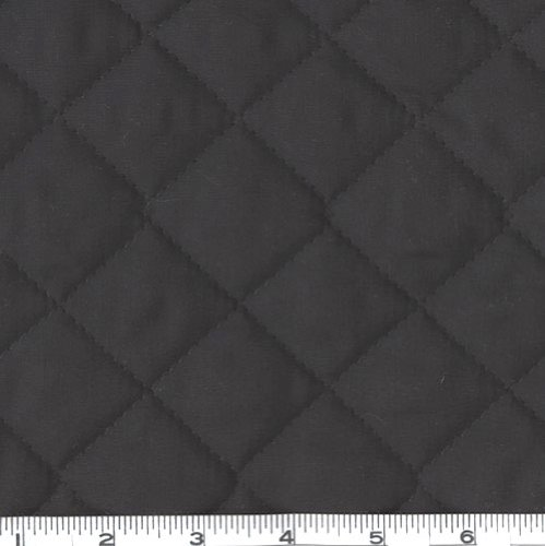 Double-Sided Quilted Broadcloth Black Fabric By The - Fabric Yard The By Pre-quilted