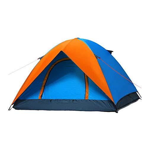 酸っぱい高めるおとなしいDALL テント テント 防水 インスタント 抗UV アウトドア キャンプ ポータブル ビーチ 耐久性のある (色 : Orange)