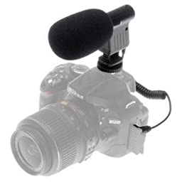 Mini Zoom Video Camera Shotgun Microphone For Nikon D500, D3200, D3300, D5100, D5200, D5300, D5500, D7000, D7100, D7200, D300, D300s, D600, D610, D700, D750, D800, D800e, D810, D810A Digital SLR Camera