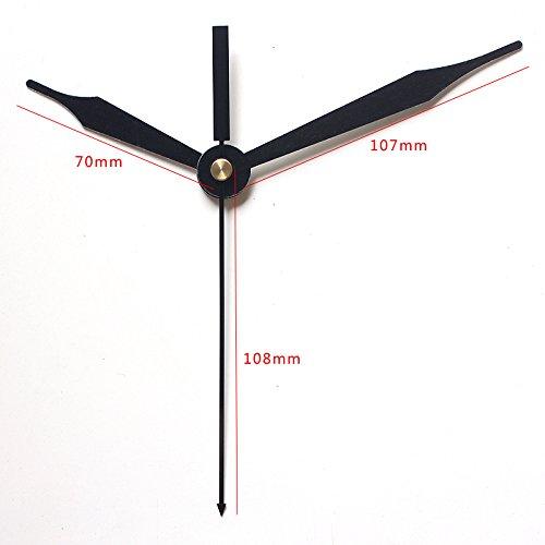 Maslin 100sets Rhythm Shaft Black Hands 57# DIY Clock Hands Quartz Clock Accessory Metal Aluminum Clock Kits
