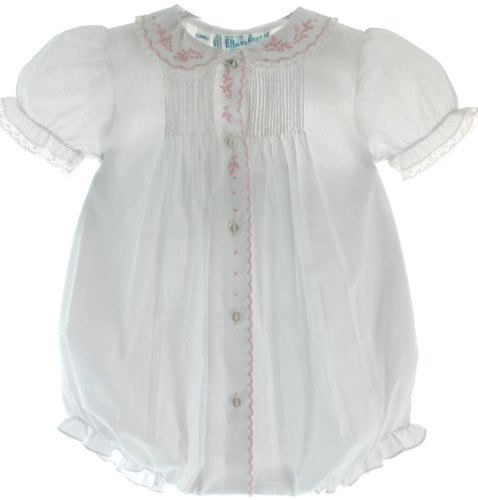 Infant Girls White Dressy Bubble with Collar Feltman Brothers (3M)]()