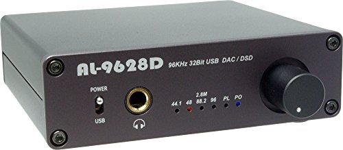 Amulech Hi-Res sound source corresponding PCM 96KHz / 32Bit // DSD 2.82MHz (88.2KHz / 32Bit) USB-DAC + headphone amplifier AL-9628D