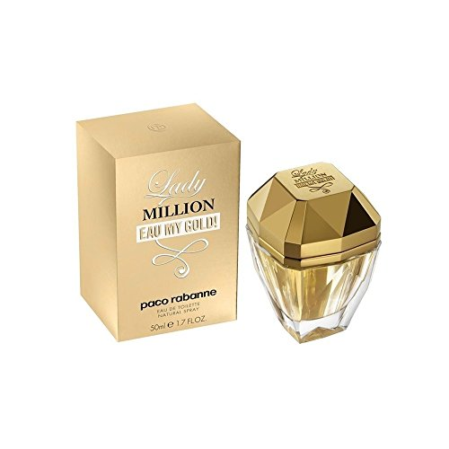 - Paco Rabanne Lady Million Eau My Gold Eau de Toilette Spray for Women, 1.7 Ounce