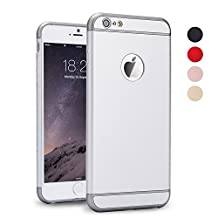 iPhone 5S Case, iPhone SE Case, iPhone 5 Case, SAUS 3 in 1 Ultra Thin and Slim Design Coated Premium Non Slip Surface with Excellent Grip Case Fit for Apple iPhone 5 / 5S / SE (Silver)