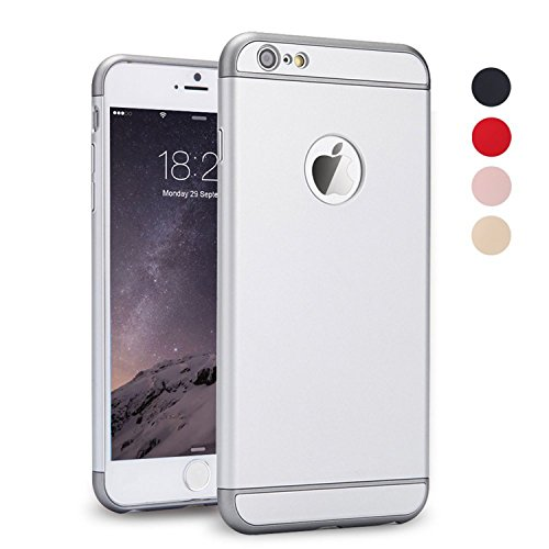 Case Design Stars Silver (iPhone 5S Case, iPhone SE Case, iPhone 5 Case, SAUS 3 in 1 Ultra Thin and Slim Design Coated Premium Non Slip Surface with Excellent Grip Case Fit for Apple iPhone 5 / 5S / SE (Silver))