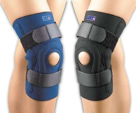 Fla 37-104MDBLK Safe-T-Sport Hinged Stabilizing Knee Stabilizing Brace, Black, Medium (Stabilizing Neoprene Knee Brace)
