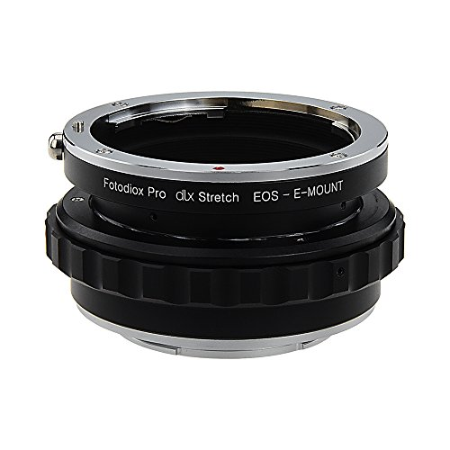 Fotodiox DLX Stretch Lens Mount Adapter - Canon EOS (EF / EF-S) D/SLR Lens to Sony Alpha E-Mount Mirrorless Camera Body with Macro Focusing Helicoid and Magnetic Drop-In Filters by Fotodiox