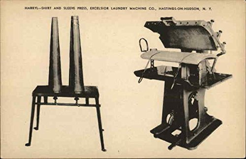 (Harryl - Shirt and Sleeve Press, Excelsior Laundry Machine Co. Original Vintage Postcard)