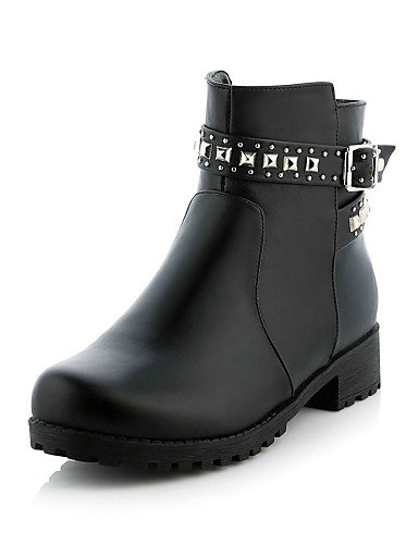 Casual us10 Cn43 Vestido Cn38 Tacón Zapatos De Botas 5 Eu38 Mujer Black Uk8 5 Negro Black Punta Semicuero 5 Xzz 5 Bajo Uk5 Redonda us7 Eu42 Botines 6vfqFH