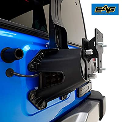 EAG Spare Tire Relocation Bracket Fit for 1976-2020 Jeep Wrangler CJ YJ TJ JK: Automotive