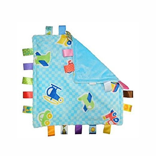 J&C Family Owned 7Style 30cm Baby Comforting Taggies Blanket Super Soft Square Plush Baby Appease Towel Baby Toys Vehicle Theme