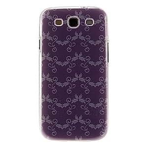 GONGXI-Purple Planta deja el modelo de la cubierta del caso protector duro plástico para el Samsung Galaxy S3 I9300