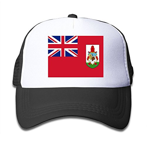 Flag Of Bermuda Boy & Girl Grid Baseball Caps Adjustable sunshade Hat For children