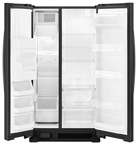 """Kenmore 36"""" Side-by-Side Refrigerator and Freezer with 25 Cubic Ft. Total Capacity, Black"""