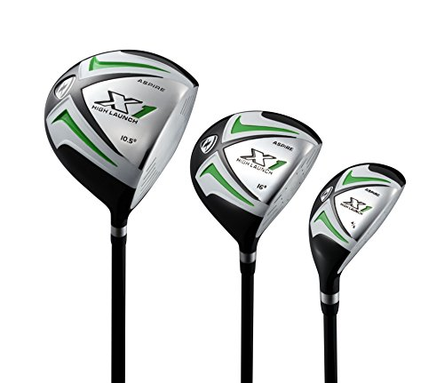 Aspire X1 Men's Complete Golf Set Includes Titanium Driver, S.S. Fairway, S.S. Hybrid, S.S. 6-PW Irons, Putter, Stand Bag, 3 H/C's Right Hand Tall Size for Men 6'1'' and Above! by Aspire (Image #1)