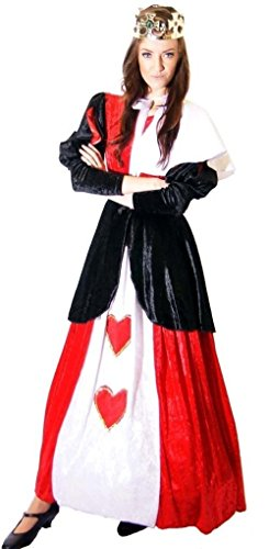 amazoncom world book day alice in wonderland queen of hearts childs fancy dress costume with crown all ages clothing