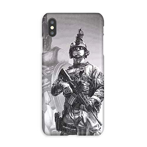 Compatible Army Ranger Chest Tattoos Soft Gel Case/Replacement for, if Applicable for iPhone Xs -