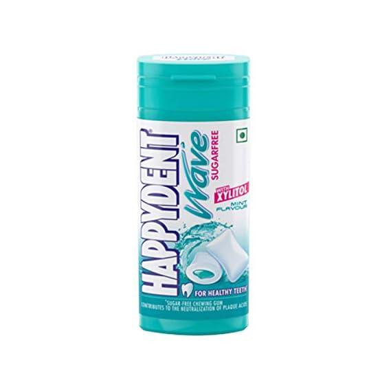 Happydent Wave, Xylitol Sugarfree Mint Flavour, Bubble Gum Pocket Bottle, 30.6 g, 18 pc